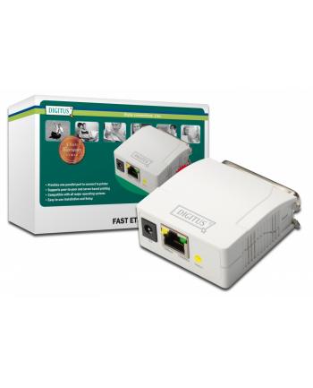 Serwer wydruku  Print serwer Fast Ethernet 1-port 1xLPT, 1xRJ-45