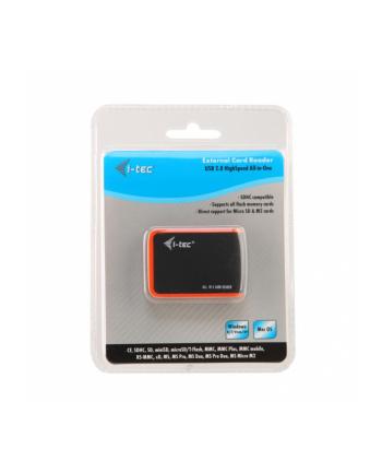 Czytnik kart i-tec USB 2.0 All-in-One Memory Card Reader - BLACK/ORANGE