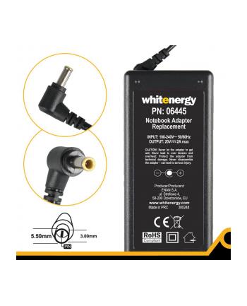 Whitenergy zasilacz 20V/2A 40W wtyczka 5.5x3.0mm + pin Samsung