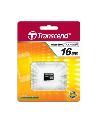 Transcend karta pamięci Micro SDHC 16GB Class 4