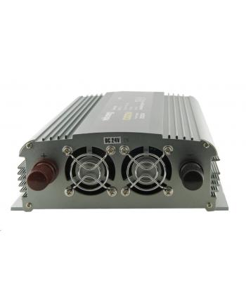Whitenergy Przetwornica AC/DC 24V (samochód) na 230V, 1000W mocy, 2 gniazda