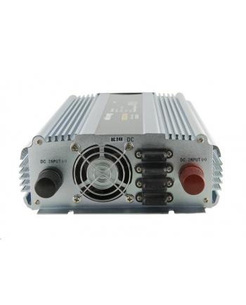 Whitenergy Przetwornica AC/DC 24V (samochód) na 230V, 1500W mocy, 2 gniazda