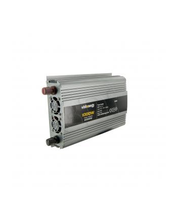 Whitenergy Przetwornica AC/DC 12V (samochód) na 230V, 1000W mocy, 2 gniazda