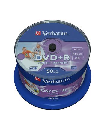 DVD+R Verbatim [ cake box 50 | 4.7GB | 16x | do nadruku Wide Photo ]
