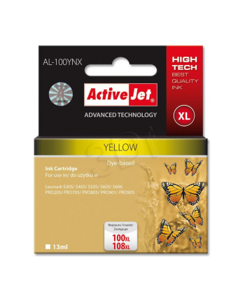 ActiveJet AL-100Y tusz Yellow do drukarek Lexmark (zam.14N1071E  nr100XL/108XL)