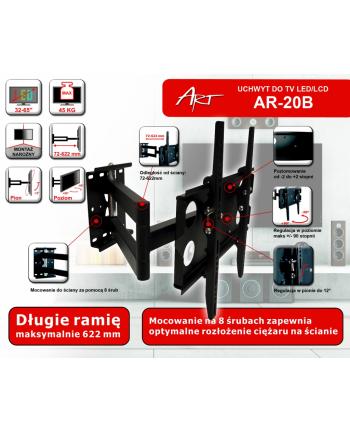 ART Uchwyt AR-20B do telewizora LCD   czarny   32-50'' 45KG