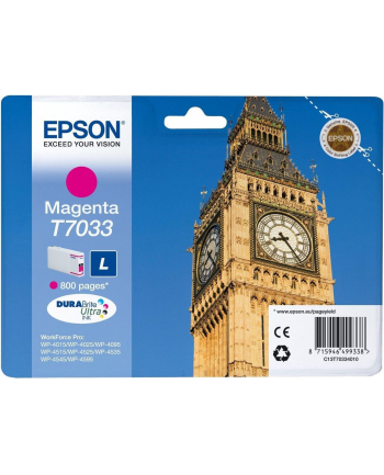 Tusz Epson T703 magenta L | 800str | WP4000/4500