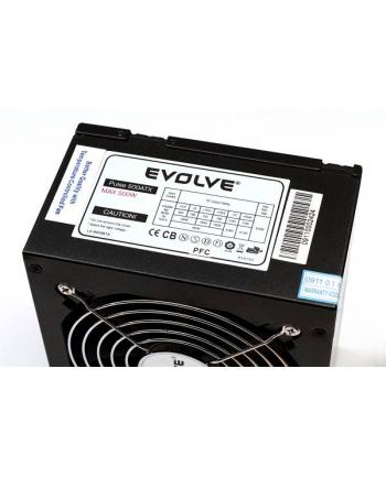 Zasilacz EVOLVE Pulse 550W, ATX 2.2, silent, 12cm fan, pas. PFC, 4xSATA, 1x PCIe, 6+2, czarny (EP550PP12R)