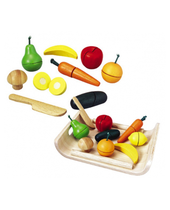 PLAN TOYS Warzywa i owoce na tacy