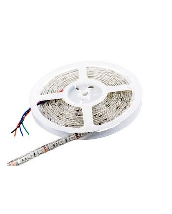 Whitenergy taśma LED wodoodporna 5m   60szt/m   5050   14.4W/m   12V DC   RGB