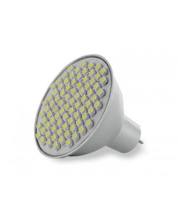 Whitenergy żarówka LED| GU5.3 | 80 SMD 3528 | 4W | 12V| ciepła biała | reflektor