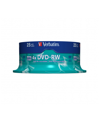 DVD-RW Verbatim [ spindle 25 | 4,7GB | 4x ]