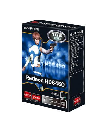 Karta graficzna Sapphire ATI Radeon HD 6450, 1GB DDR3, 64-bit, 625/667, DVI-D / HDMI / VGA, PCI-E (11190-02-20G)