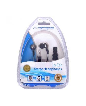 ESPERANZA Słuchawki Douszne Stereo EH125 Czarno - Grafitowy