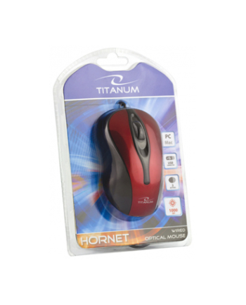 Mysz ESPERANZA TITANIUM TM103R USB HORNET 3D  1000 DPI  Czerwona