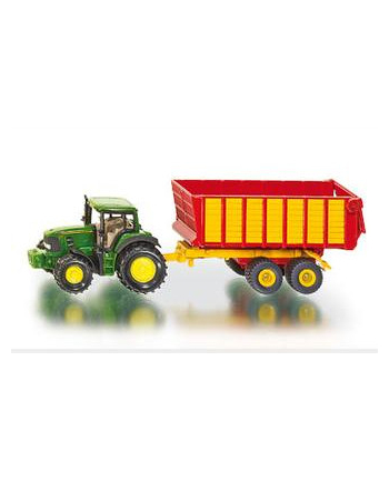 SIKU Traktor John Deere z przyczepą