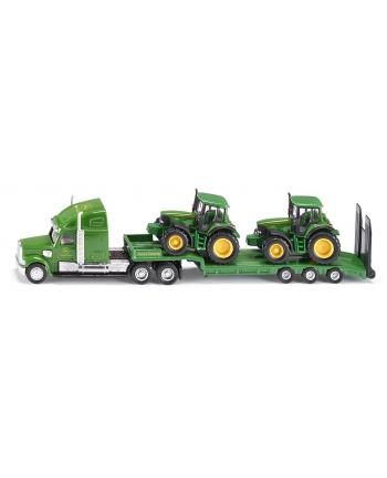 SIKU Ciężarówka z Naczepą  Dwa Traktory