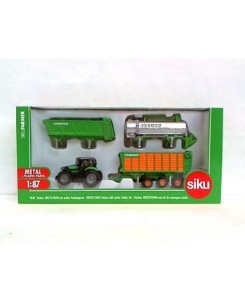 SIKU Traktor z Zestawem Przyczep Joskin
