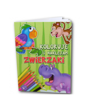 AMI PLAY Koloruję i Naklejam Zwierzaki 1