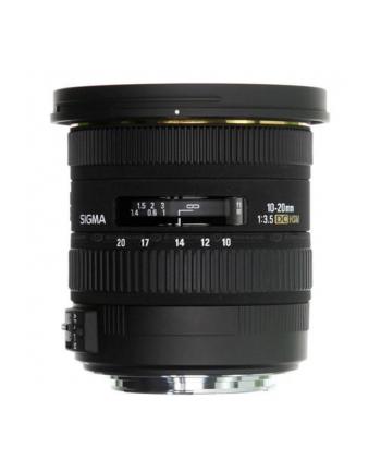 Sigma AF 10-20mm F3.5 EX DC HSM mocowanie: Canon, 13 elementów w 10 grupach, kąt widzenia: 102.4-63.8 stopni, 7 listków przysłony, średnica filtra 82mm, minimalny dystans ostrzenia: 24cm [202954]