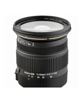Sigma AF 17-50mm F2.8 EX DC OS HSM mocowanie: Canon, 17 elementów w 13 grupach, kąt widzenia: 72.4-27.9 stopni, 7 listków przysłony, średnica filtra 77mm, minimalny dystans ostrzenia: 28cm. [583954]