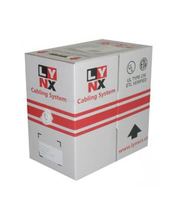 UTP kabel LYNX, Cat5E, drut, PVC, 305m - oznaczenie metrażu