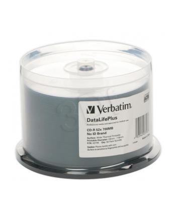 CD-R Verbatim   cake box 50   700MB   52x   do nadruku Wide Thermal
