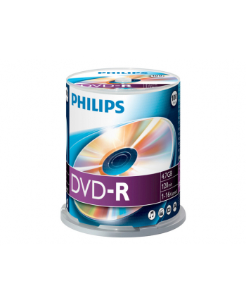 PHILIPS DVD-R 4,7GB 16X CAKE*100  DM4S6B00F/00