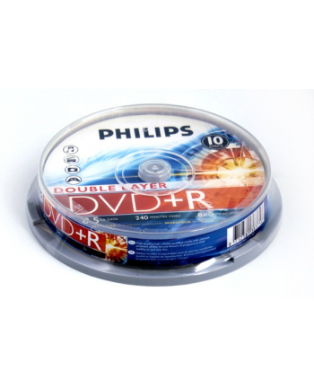 PHILIPS DVD+R 8,5GB 8X DOUBLE LAYER CAKE*10  DR8S8B10F/00