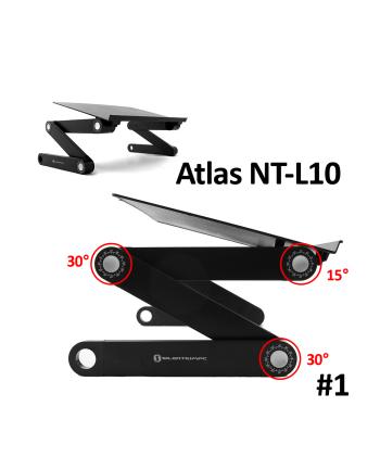 Podstawka chłodząca - stolik pod NB'ka NT-L10 alumiunium, czarny, 7~17''