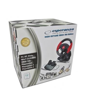 ESPERANZA Kierownica z wibracjami do PC/PS2/PS3/XBOX EG103 HIGH OCTANE XBOX 360