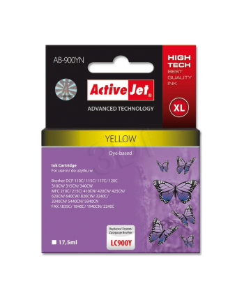 ActiveJet AB-900Y tusz yellow do drukarki Brother (zamiennik LC900Y)