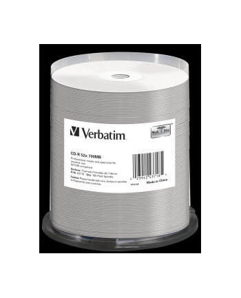 VERBATIM CD-R AZO(100-Pack)Spindle/Crystal/DLP/52x/700MB