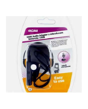 4World Audio adapter z mikrofonem Motorola USB V3/3i RAZR V3x/3xx L6 A780 E680i