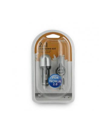 4World zestaw ładujący GSM 2in1 Samsung, USB i samochód 12-24V