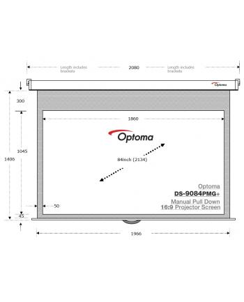 Ekran projekcyjny Optoma DS-9084PMG+ (84'', 16:9, 186x104,5)