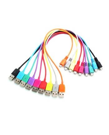 Kabel USB 2.0 MICRO 5pin, AM / B MICRO transfer/ładowanie 1.0m niebieski