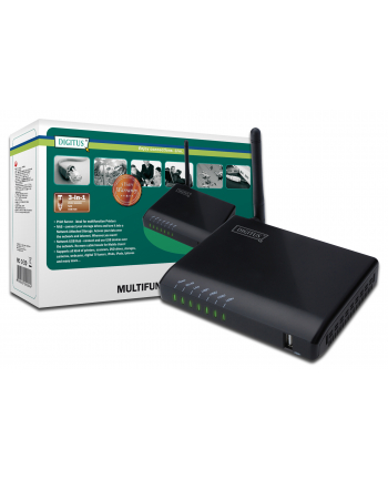 Wielofunkcyjny serwer sieciowy WLAN 4x USB2.0, NAS, serwer wydruku