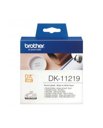 Etykiety Brother DK11219   12 mm 1/2 średnica  - 1200 etykiet