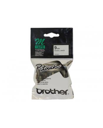 Taśma do P-touch MK-221 BZ (Blister) 9mm biała / czarny nadr