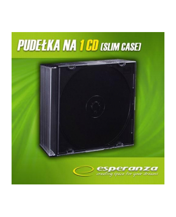 ESPERANZA Slim Box Czarne 5,2 mm na CD/DVD ( 10 szt.- Pakiet)