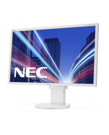 NEC Monitor MultiSync LED EA223WMe 22'' wide, DVI, DispayPort, USB, HAS, biały