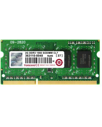 Transcend 2GB  DDR3  1066MHz CL7  SODIMM  204 PIN