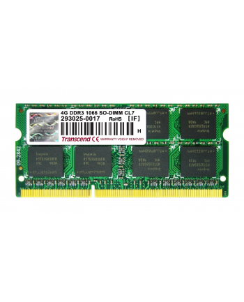 Transcend 4GB  DDR3  1066MHz CL7  SODIMM  204 PIN