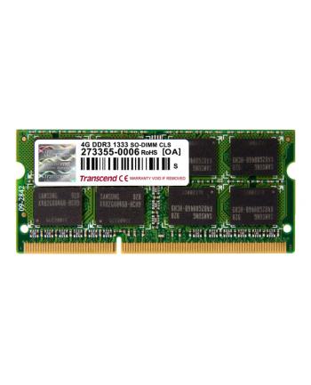 Transcend 4GB  DDR3  1333MHz CL9  SODIMM  204 PIN