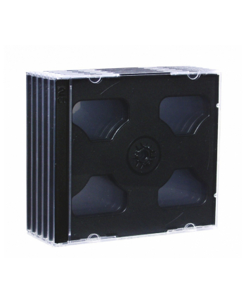 PUDEŁKO NA 2 CD JEWEL BLACK TRAY PAK 5 SZT.