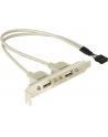 Gniazda USB 2 x 2.0 na śledziu - nr 17