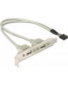 Gniazda USB 2 x 2.0 na śledziu - nr 21