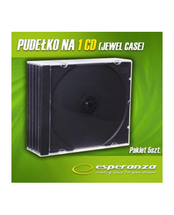 PUDEŁKO NA 1 CD JEWEL BLACK TRAY PAK 5 SZT.