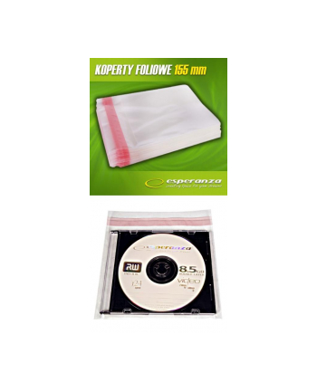 KOPERTY FOLI NA CD/DVD 158x130mm 50 MIKR Z KLEJ